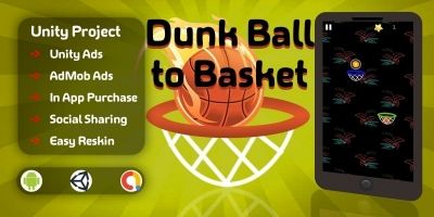 Dunk Ball To Basket - Unity Project