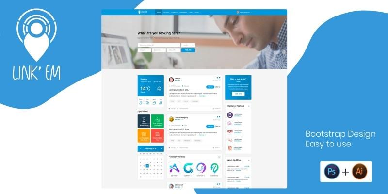 Link Em - Professional Network Platform PSD