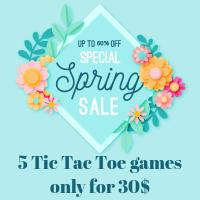 Spring Boom - Five iOS Tic Tac Toe games