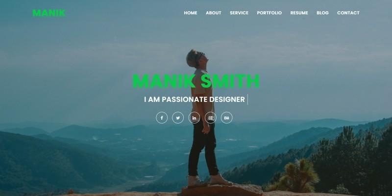 Manik Personal Portfolio Template