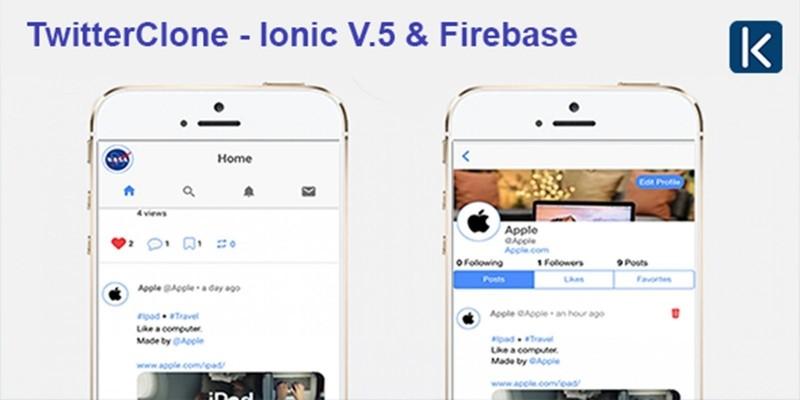 TwitterClone - Ionic V5 And Firebase