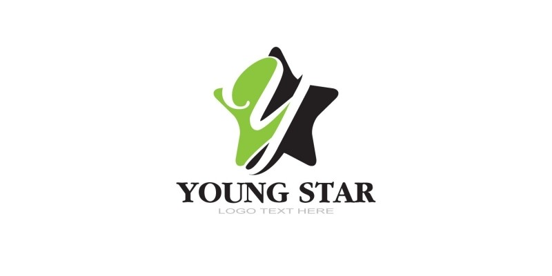 Y Letter Logo In Star