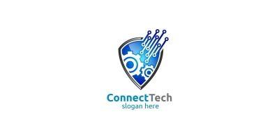 Technology Logo And Electronic