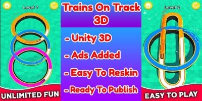 Trains On Track 3D Game Unity Source Code