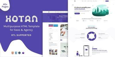 Hotan - Multipurpose HTML Template For Saas