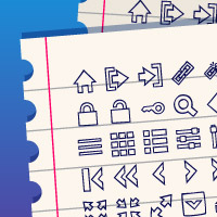 User Interface Hand Drawn Icons