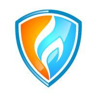 Fire Flame Security Logo