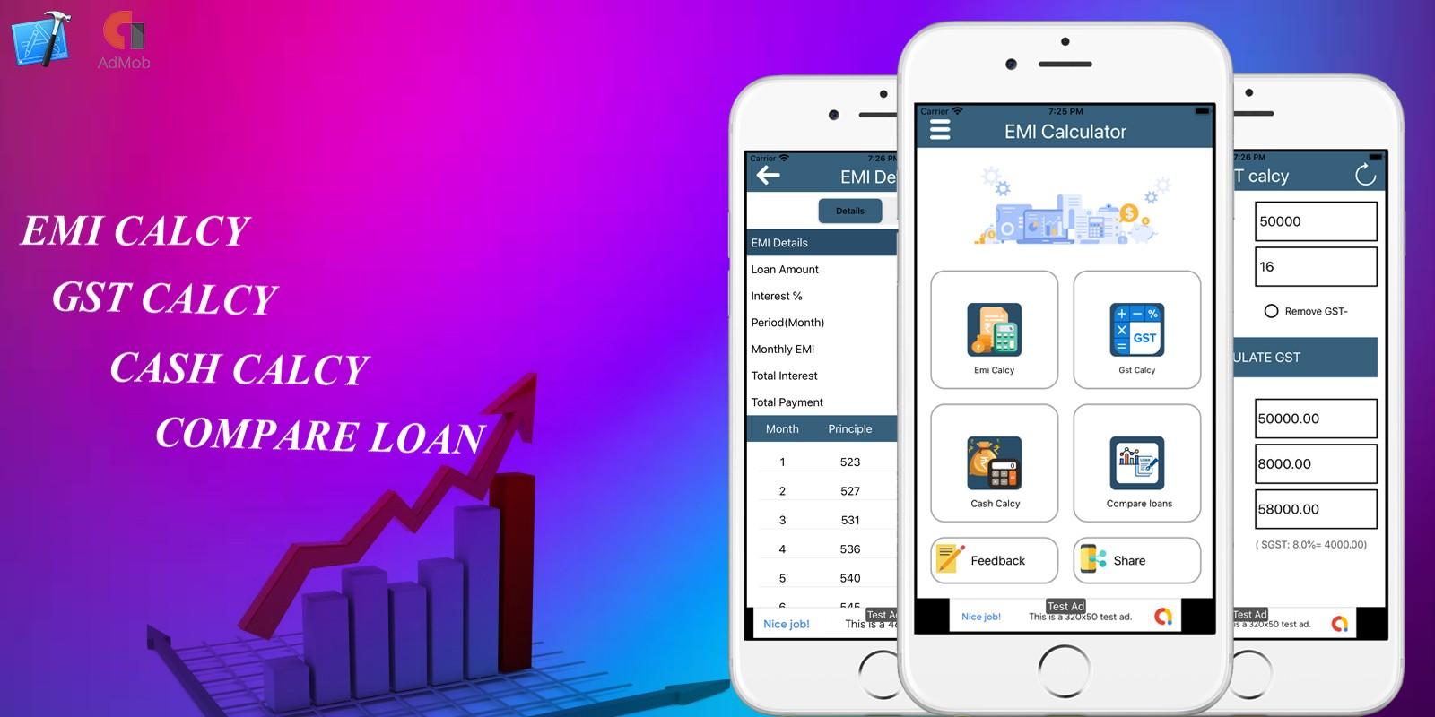 EMI Calculator And GST Calculator iOS