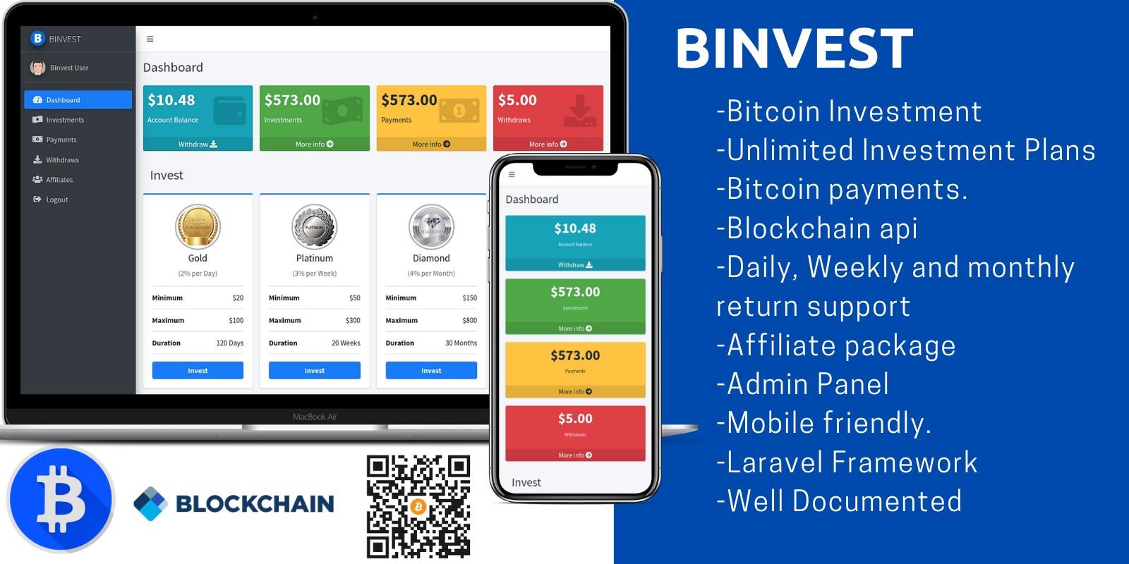 Binvest - Bitcoin Investment Platform