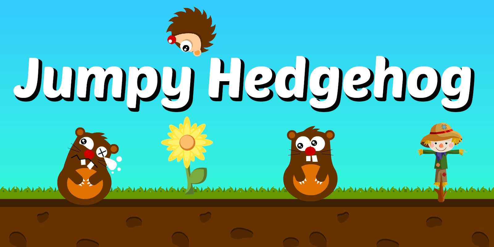 Jumpy Hedgehog - Construct 3 Game Complete Project