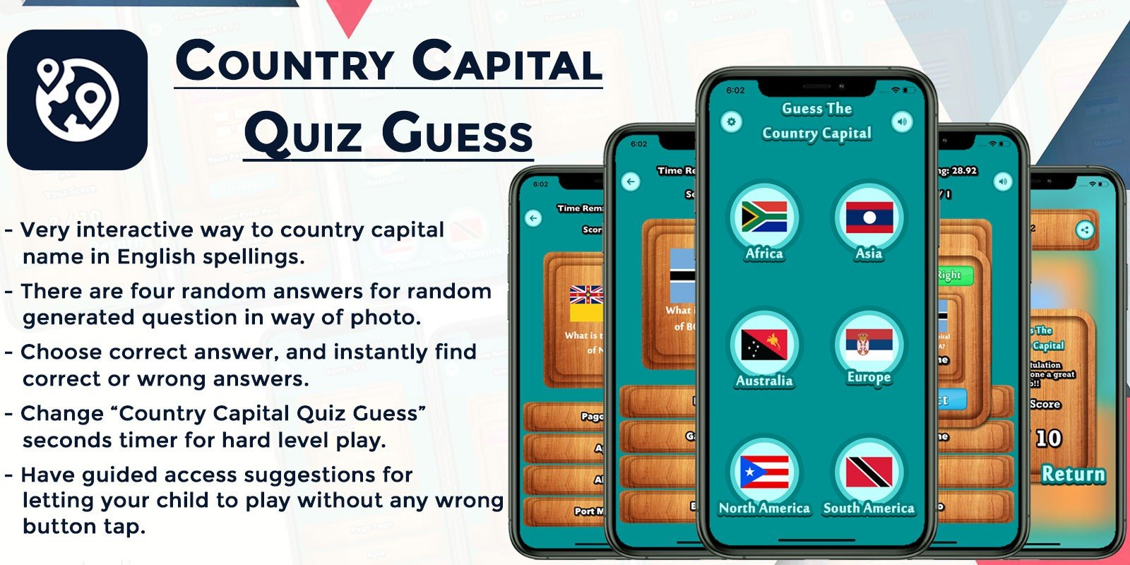 Country Capital Quiz Guess iOS Swift