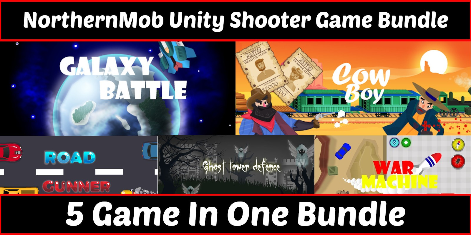 Unity Shooter Bundles - 5 Games