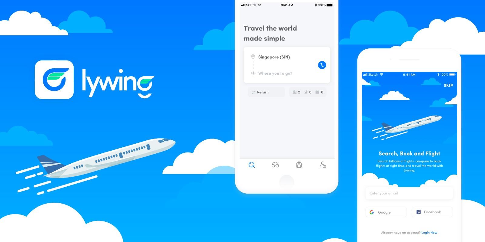 Lywing - Flight Booking Application UI Design