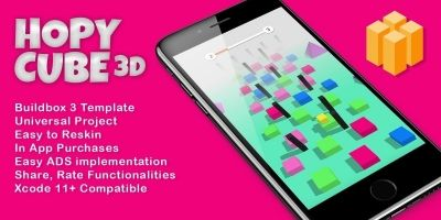 HopyCube 3D - Buildbox Template