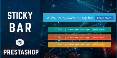 PrestaShop Sticky Bar And Top bar Module