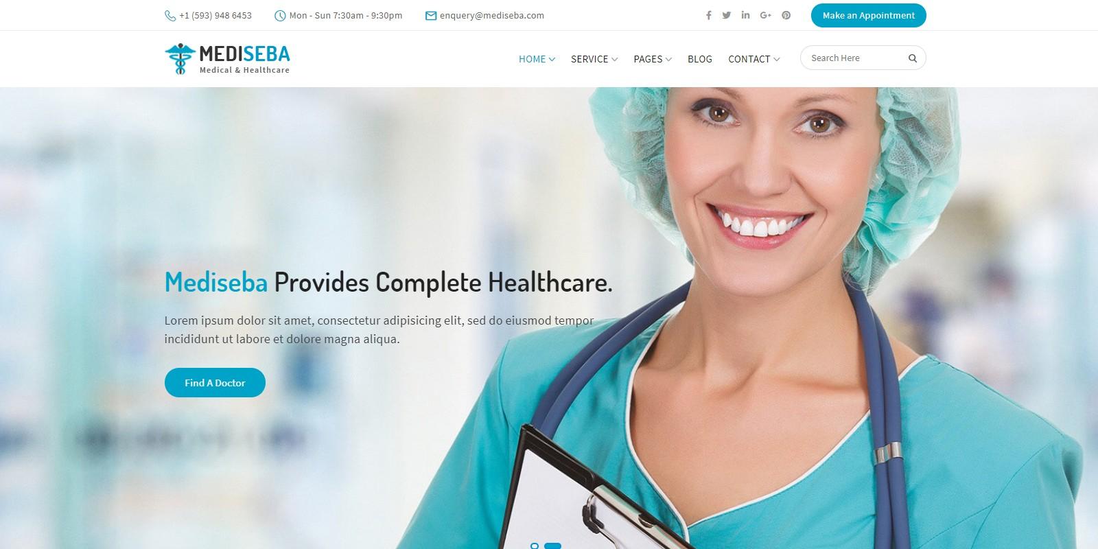 Mediseba - Medical And Healthcare WordPress Theme