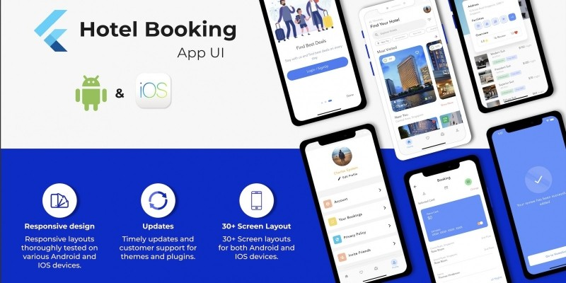 Hotel Booking Travel App UI Template With Flutter