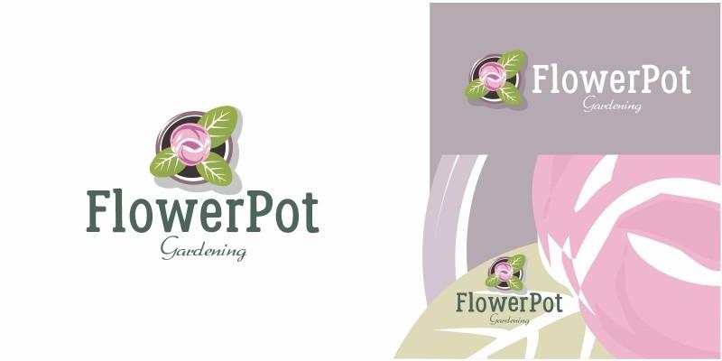 Flower Pot Logo
