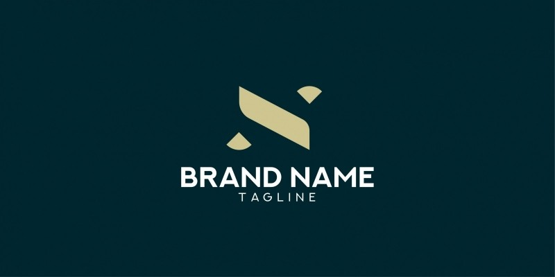 Luxury Letter N logo