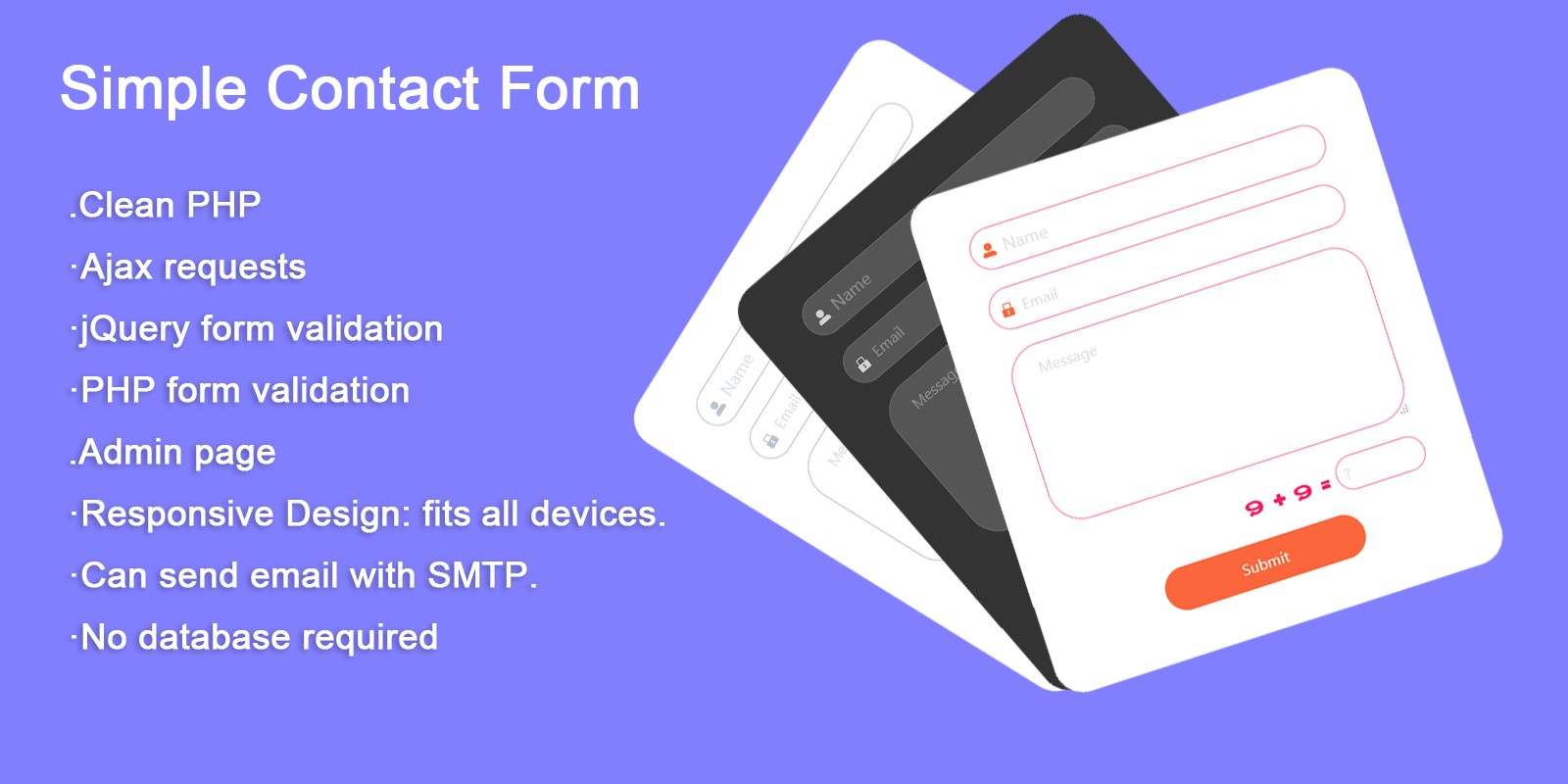 Simple PHP  Ajax Contact Form