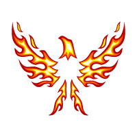 Eagle Logo With Fire And Flame Concept Design
