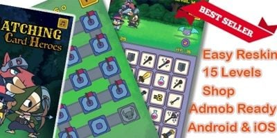 Matching Cards Hero Puzzle Unity Source Game