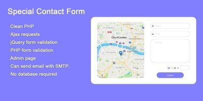 Special PHP Ajax Contact Form