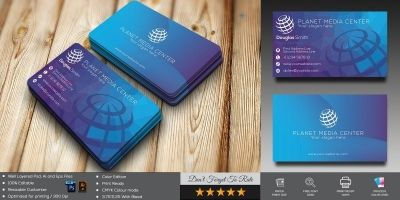 Planet Media Business Card