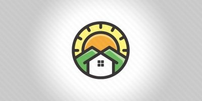 House And Mountain Logo