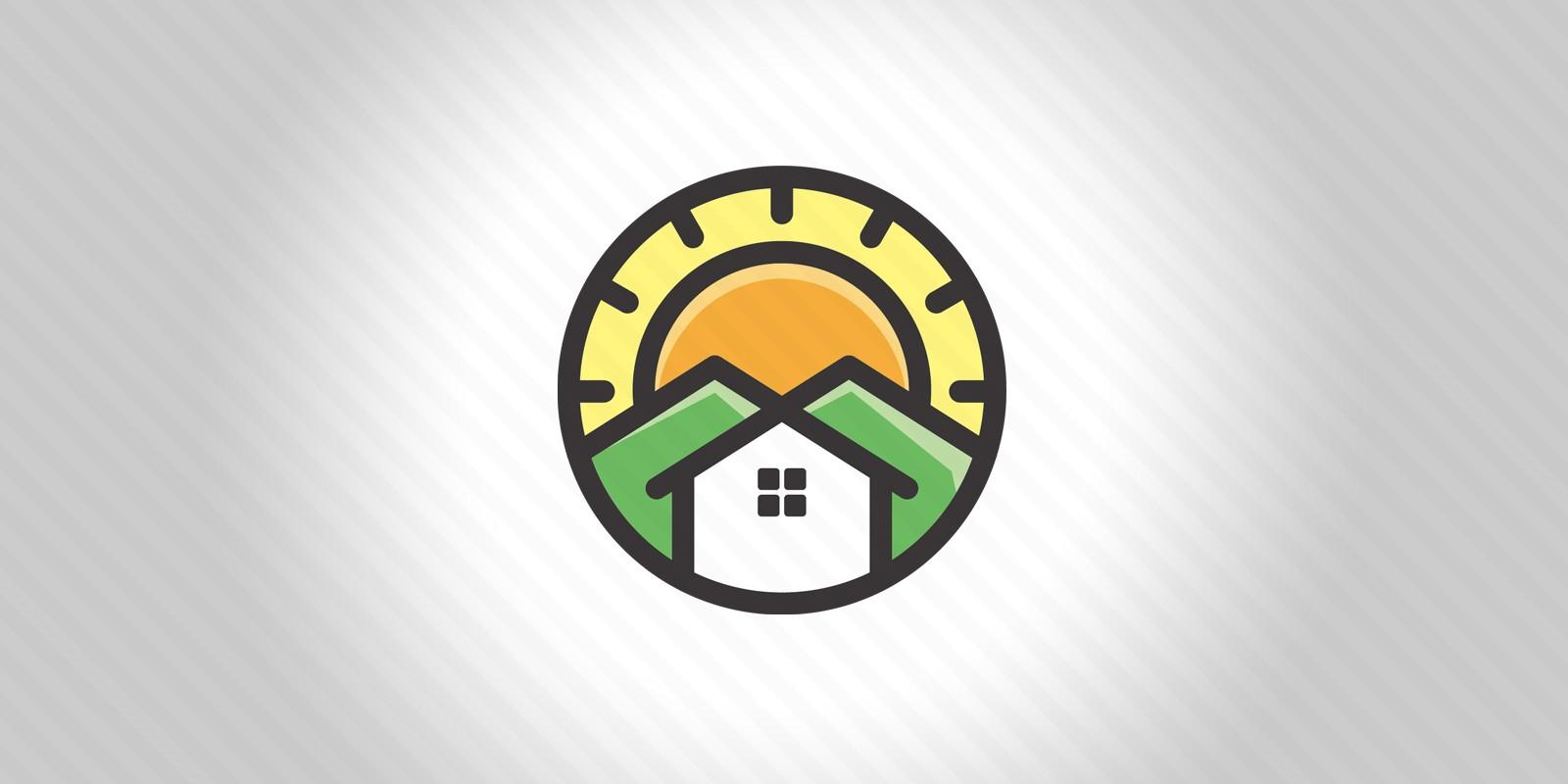 House And Mountain Logo