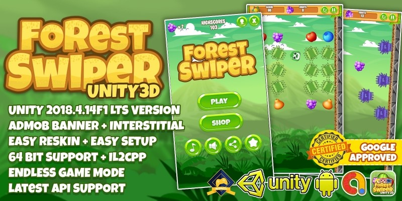 Forest Swiper Unity3D With Admob