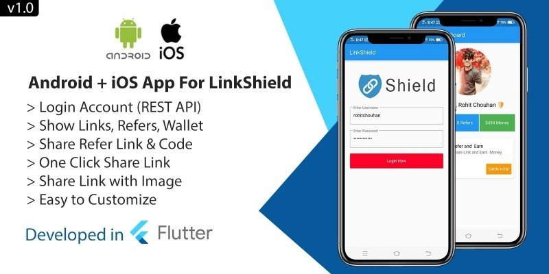 Android and iOS App For LinkShield - Flutter
