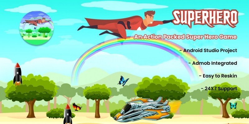 SuperHero Adventure Game - Android Source Code