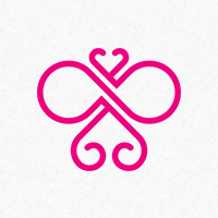 Infinity Butterfly Logo Template