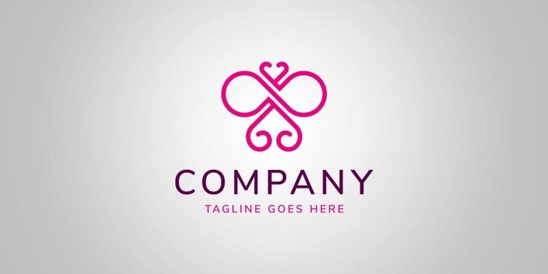 Infinity Butterfly Logo Template