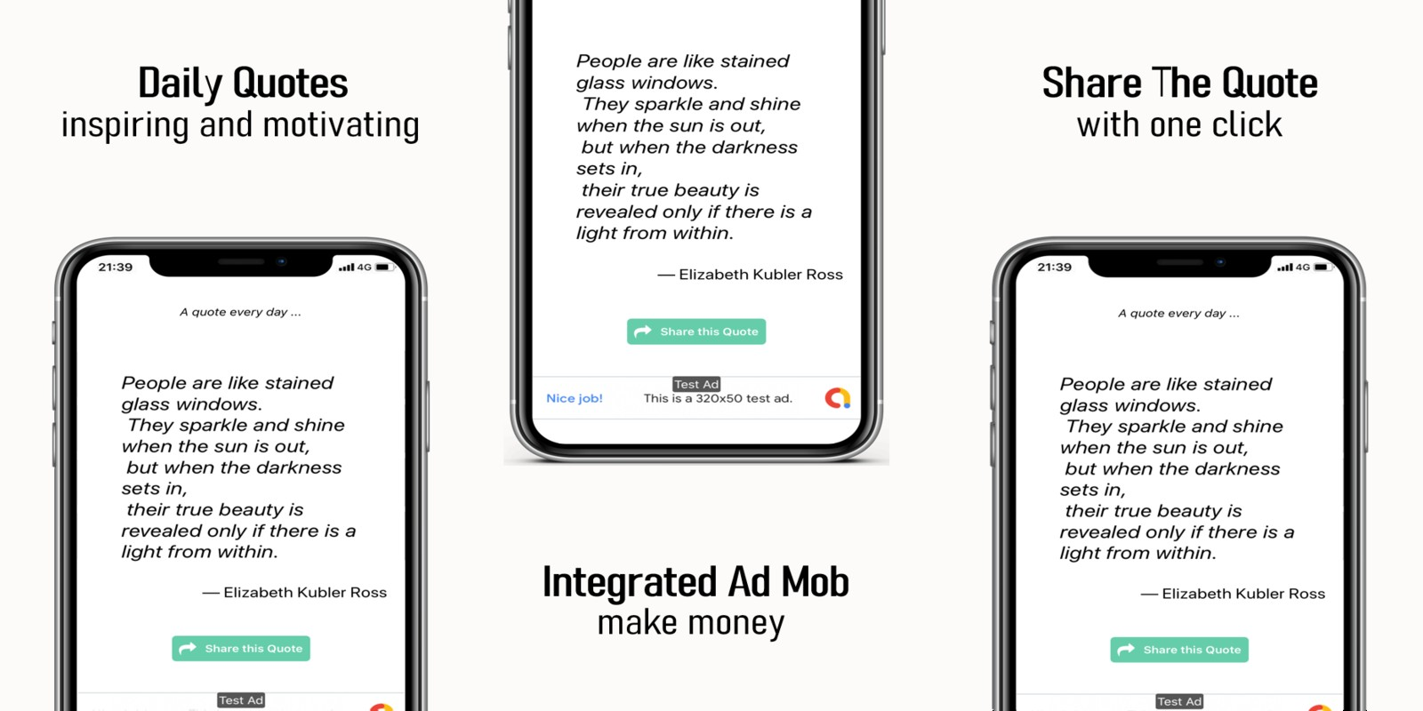 Daily Motivation Quotes - React App Template