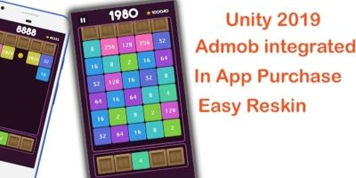 2048 Shoot And Merge Puzzle Unity Source Code