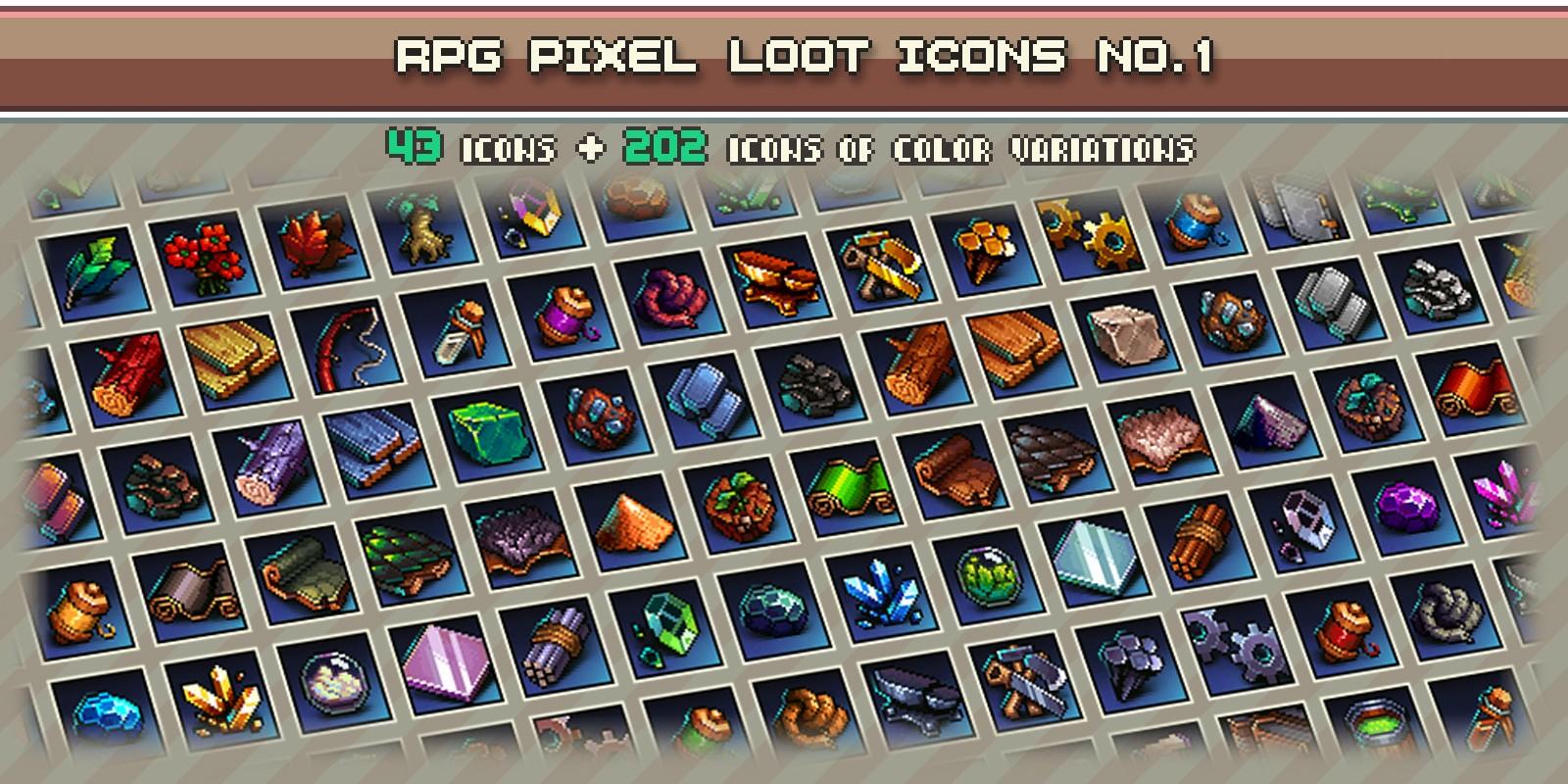 Rpg Pixel Loot Icons 1