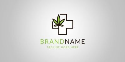 Medical Leaf Logo Template