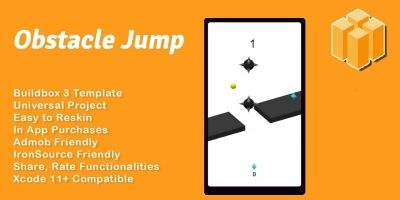 Obstacle Jump - Buildbox 3 Template