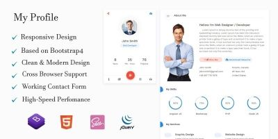 Premium Profile Website Template