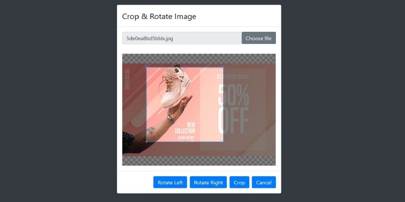 Crop And Rotate Image - PHP Script