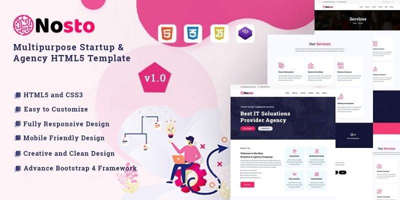 Nosto - Multipurpose Startup HTML5 Template