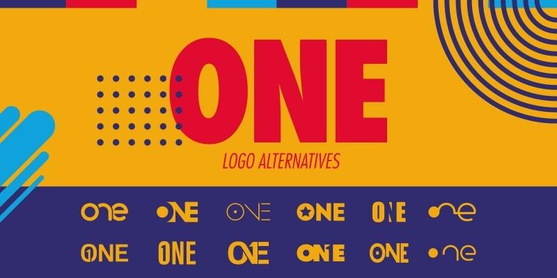 Number One Logo Set - 12 One Logo Alternatives