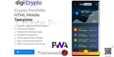 digiCrypto - Crypto Portfolio Mobile Template