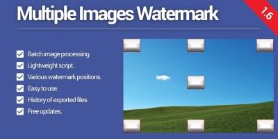 Multiple Images Watermark PHP Script