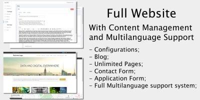 Full Website - Content Management System