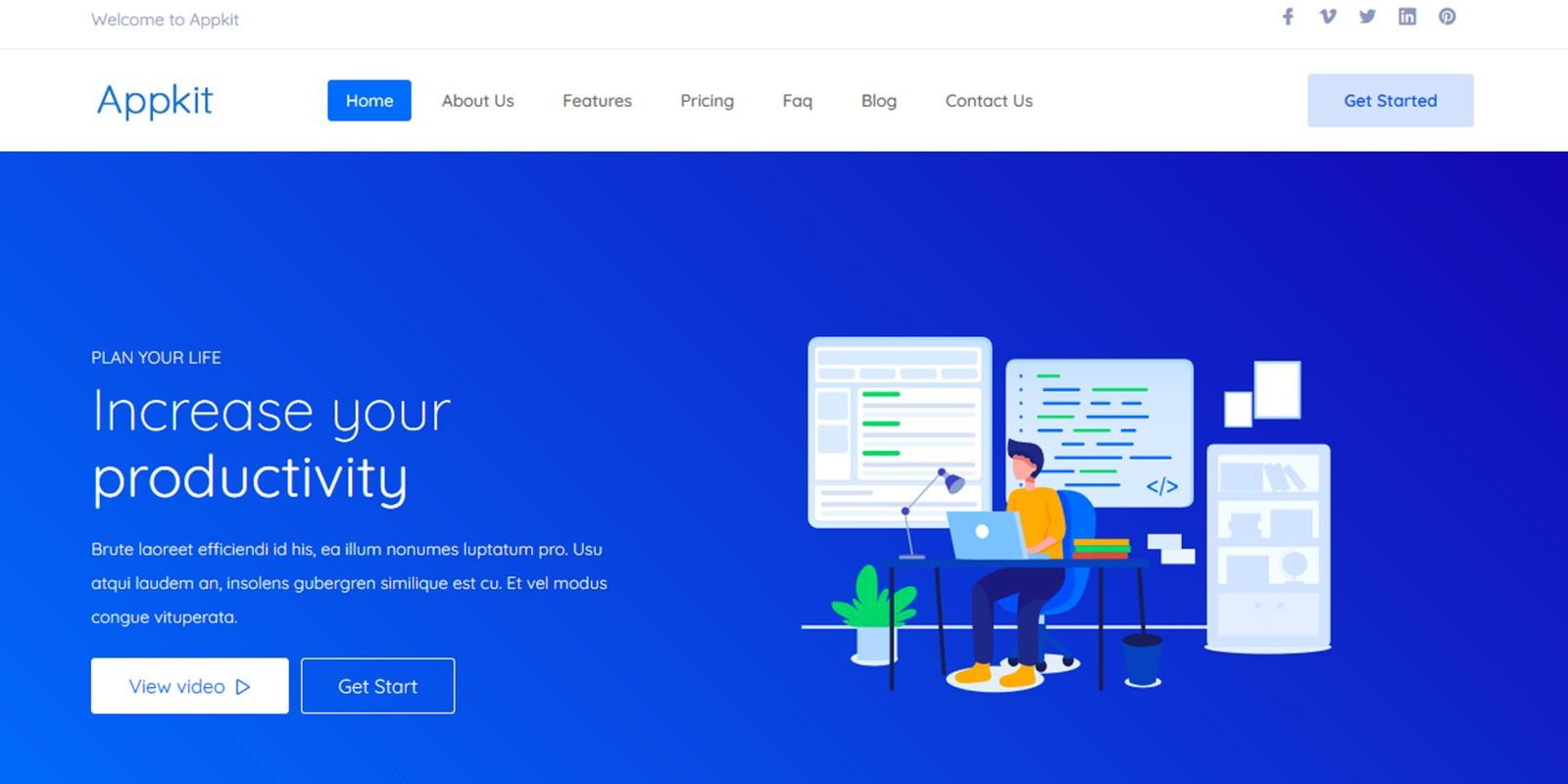 Appkit – Creative SaaS Landing Page Template