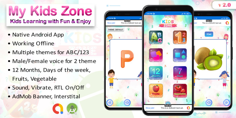 My Kids Zone - Kids Prelearning School Android App