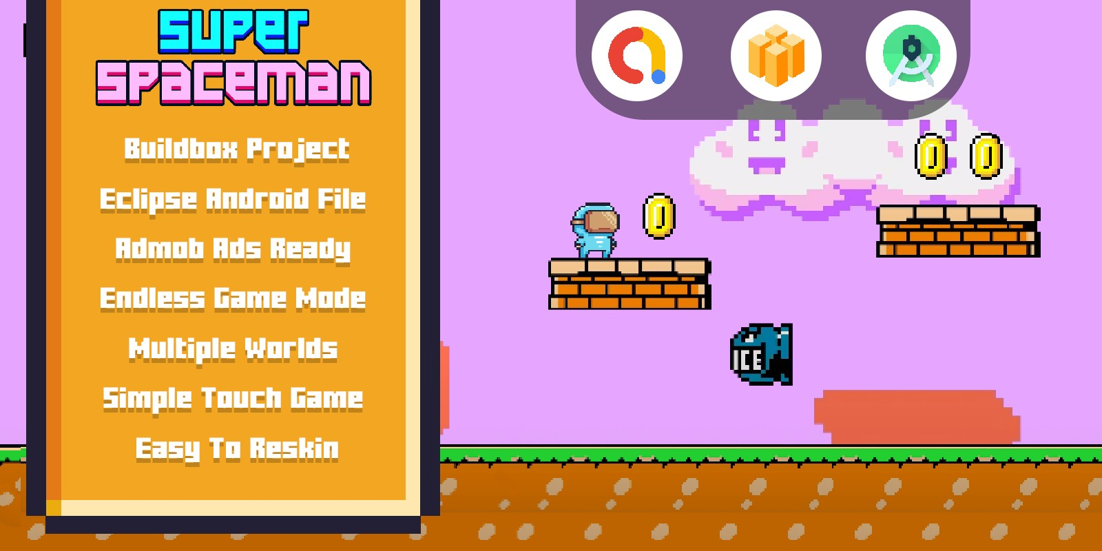 Super Spaceman World - Buildbox Template